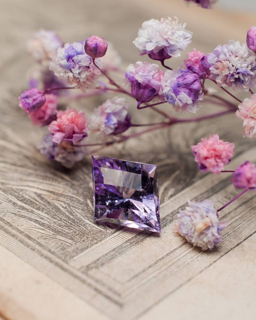 Faceted Amethyst from Mont-Blanc, France