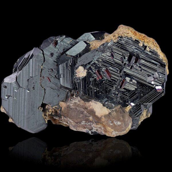 Hematite with rutile from Cavradi, Swtzerland
