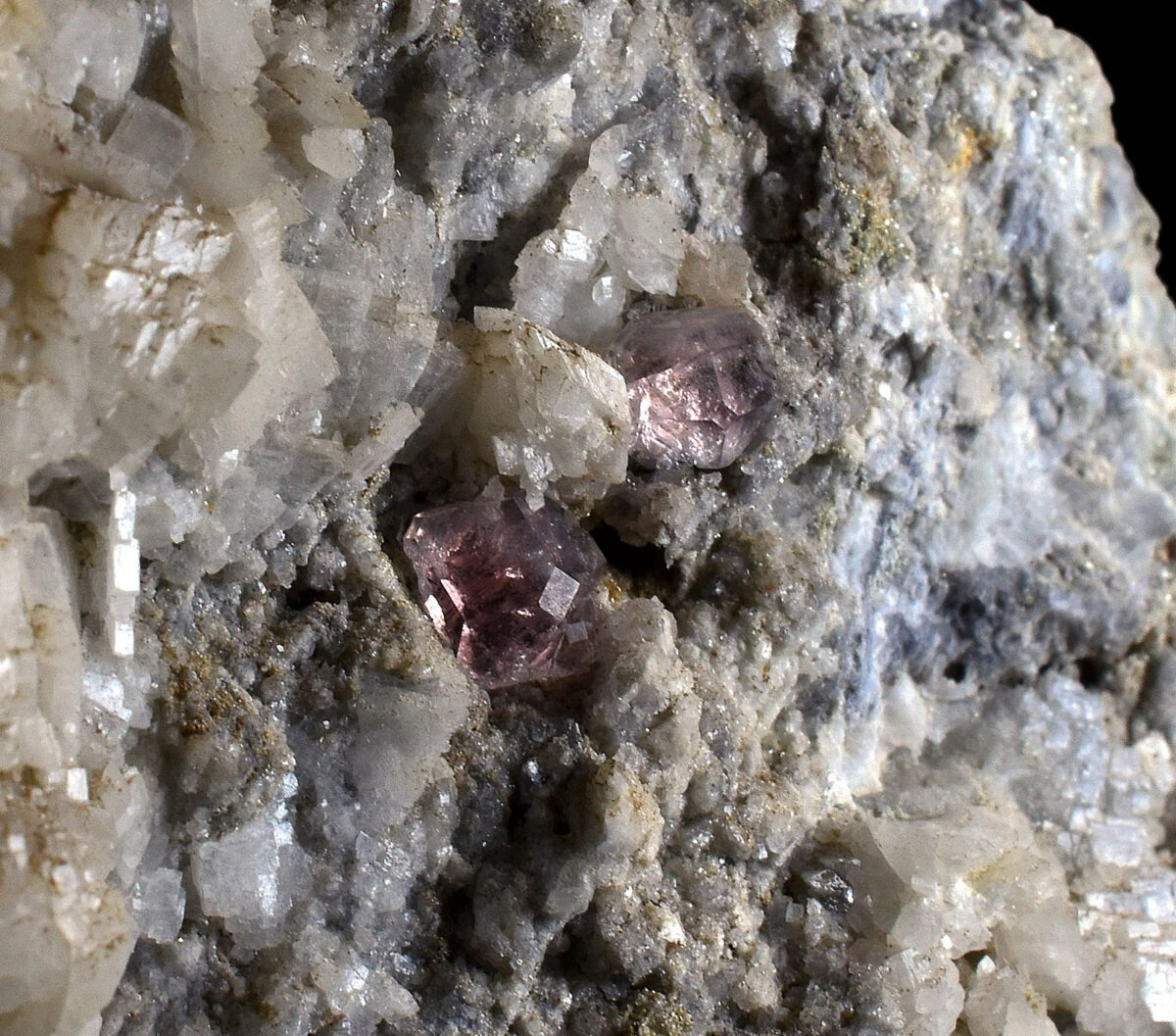 Pink Fluorite from Les Droites, Mont-Blanc, France