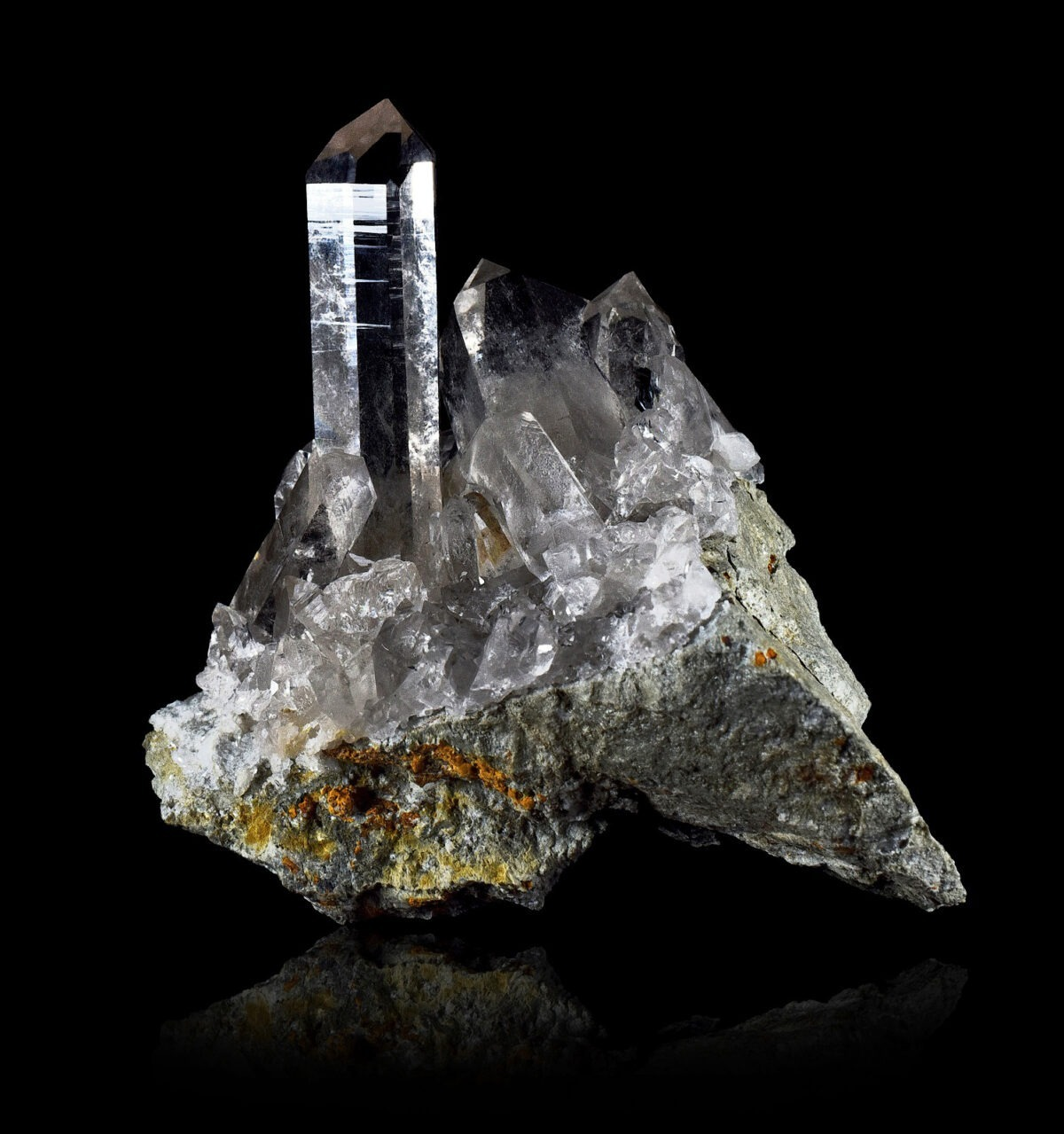 Quartz crystal from Les Deux Alpes, France
