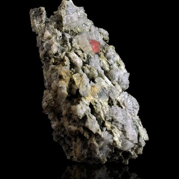 Pink Fluorite and Smoky Quartz from Chamonix
