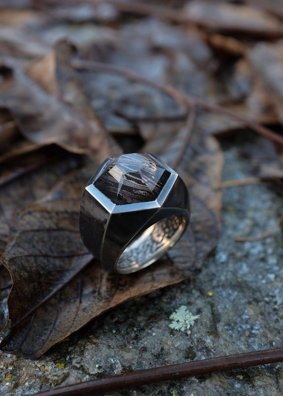 Shibuichi ring