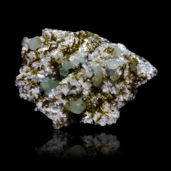 Epidote and Prehnite from Arvigo, Switzerland