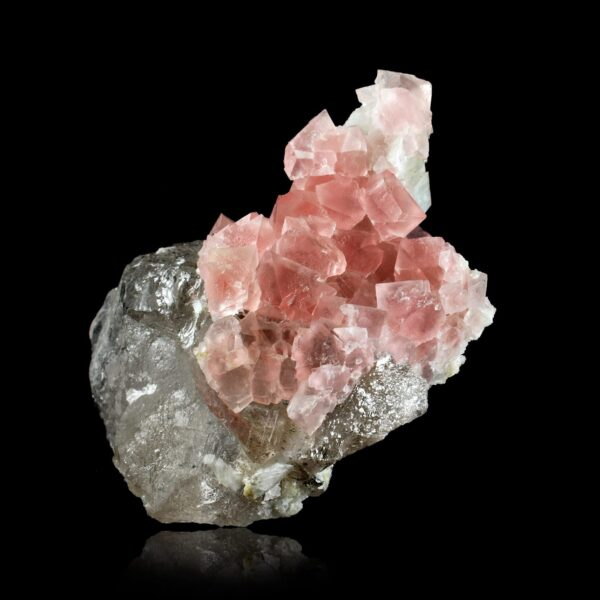 Pink fluorite from the Mont-Blanc mountains