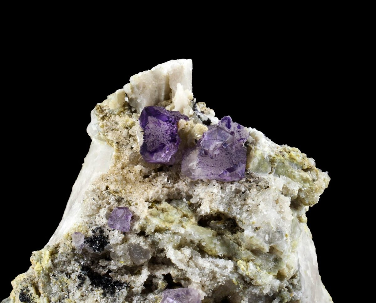 Purple fluorite from the Mont-Blanc, France