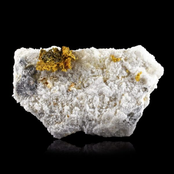 Native Gold on Quartz from Brusson, Italy